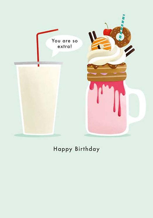 Milkshake Birthday Card