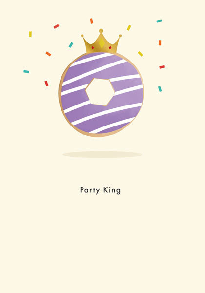 Party King Birthday Card