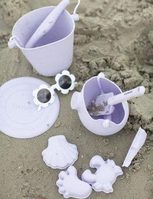 Scrunch Beach Set - Dusty Light Purple
