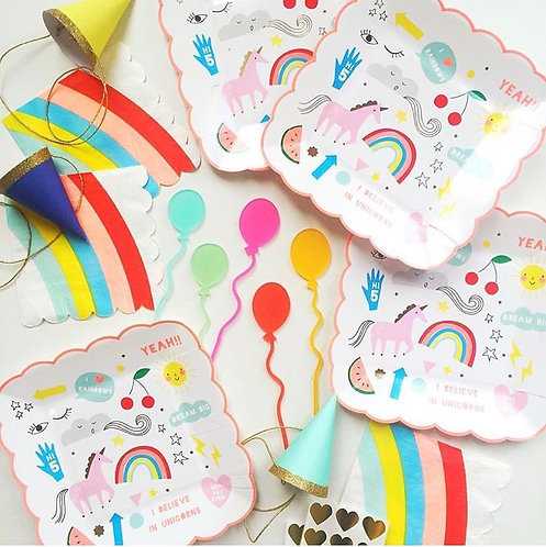 Magical Unicorn Party Plate