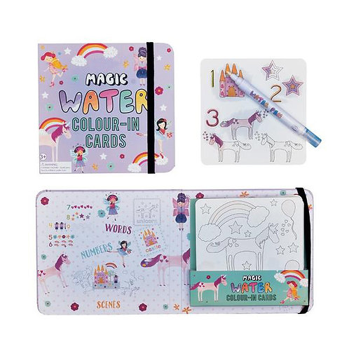 Magic Water Colour-in Cards - Fairy