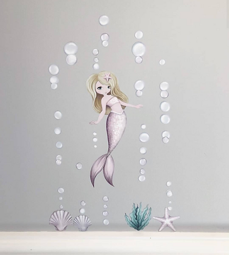 Audrina the Mermaid Wall Decal