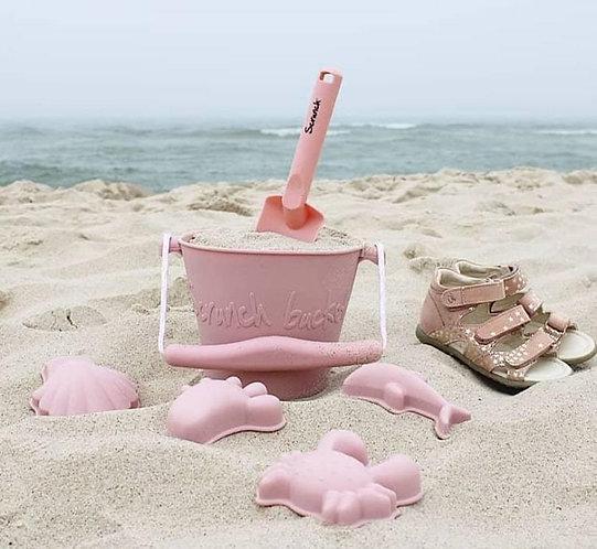 Scrunch Beach Set - Old Rose