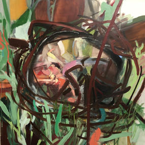 THE WELL 120x120cm, oil on canvas, 2012-2020