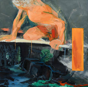 THE GATEKEEPER 120X120cm, oil on canvas, 2018