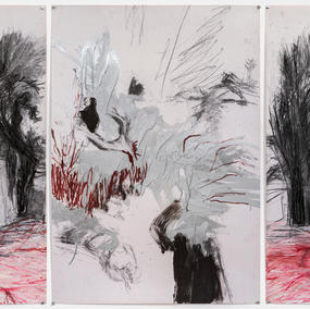 Tryptic, mixed media on paper, 2020
