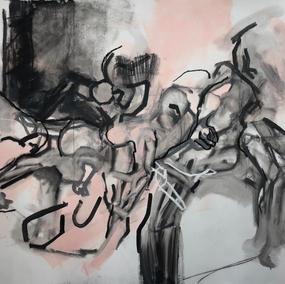 135X195cm, mixed media on canvas, 2021