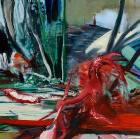 STRIVING FORWARD 120X110cm, oil on canvas, 2019-2020