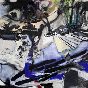 ROADMAP 160X140cm, mixed media on canvas, 2021