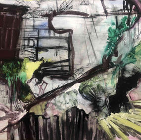 CONSTRUCTION SITE 133X164cm, mixed media on canvas, 2020