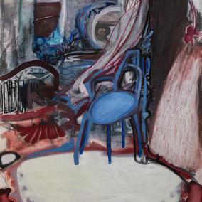 STUDIO 190X140cm, mixed media on canvas, 2020