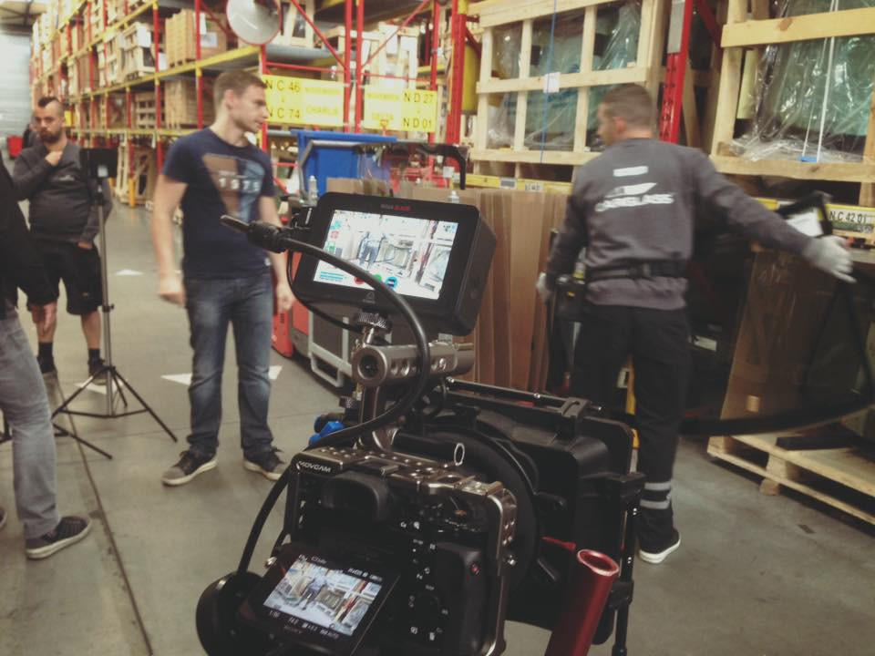 Studio opname bedrijfsfilm