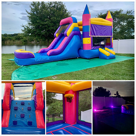 Princess Wet/Dry Bounce House & Slide Combo