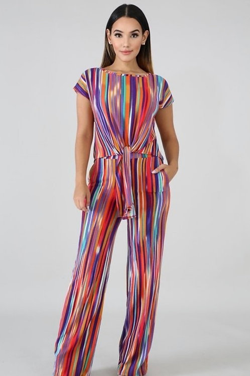 Alluring Abstract Two Piece Set