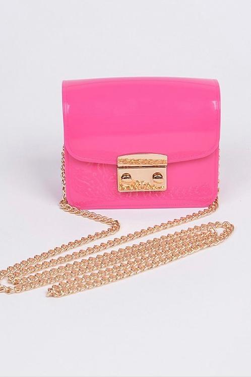 Cross my heart pink mini clutch