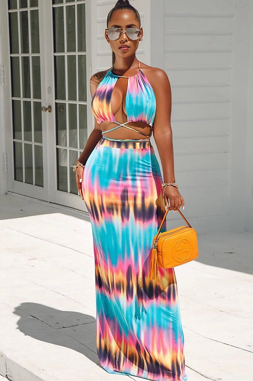 Blurred Vision Two Piece Set