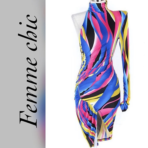 Attract a crowd one shoulder dress