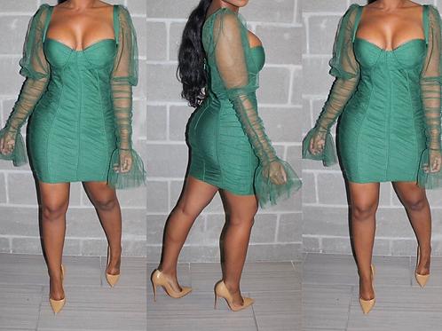 All my heart emerald dress