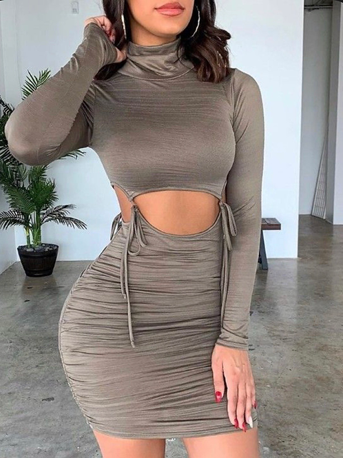 Lexi ruched bodycon dress