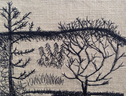 Stitched drawing