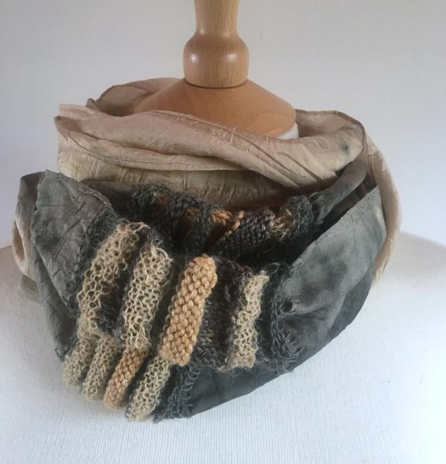 Handmade silk cowl