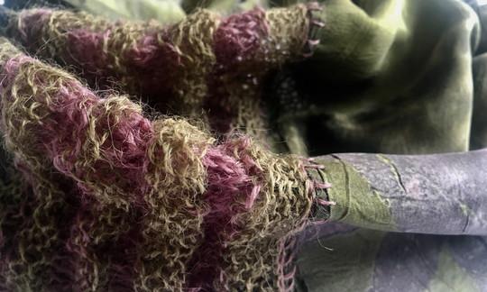 Silk scarf detail