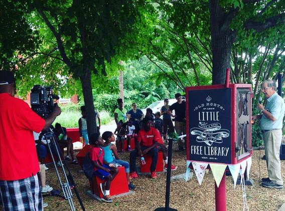 Wingman Park Reading Garden Dedication