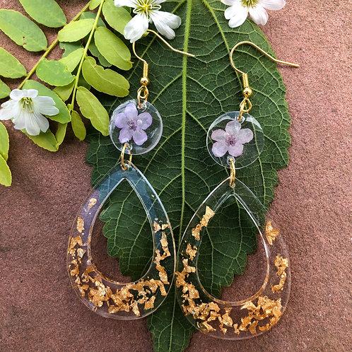 Violet Tears Earrings
