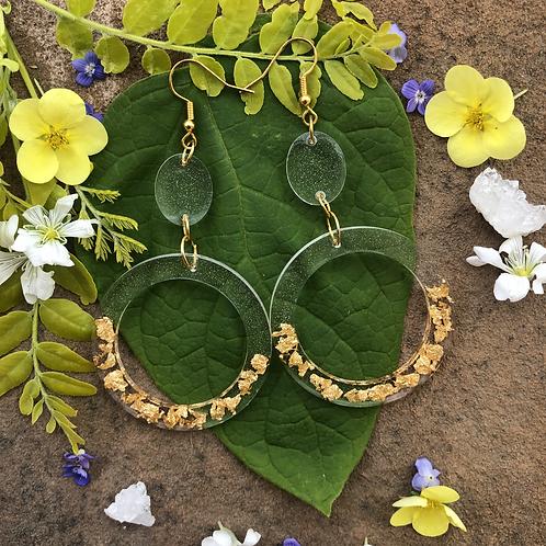 Dripping in Gold Hoop Earrings