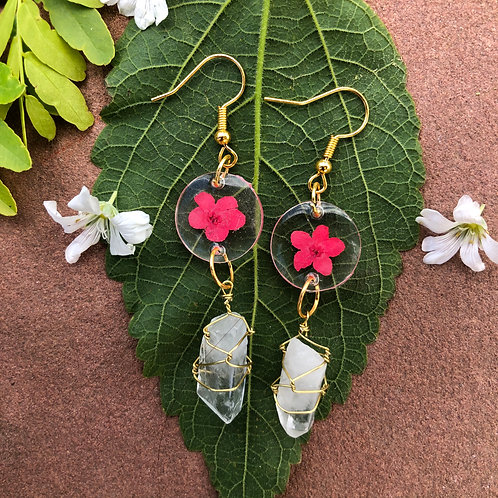 Quartz Angel Earrings