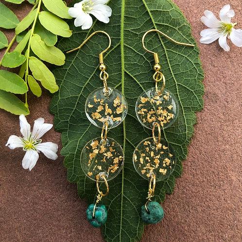 Raining Turquoise Earrings