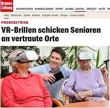 VR-Brillen schicken Senioren an vertraute Orte