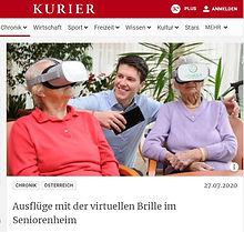 Ausflüge mit der virtuellen Brille im Seniorenheim