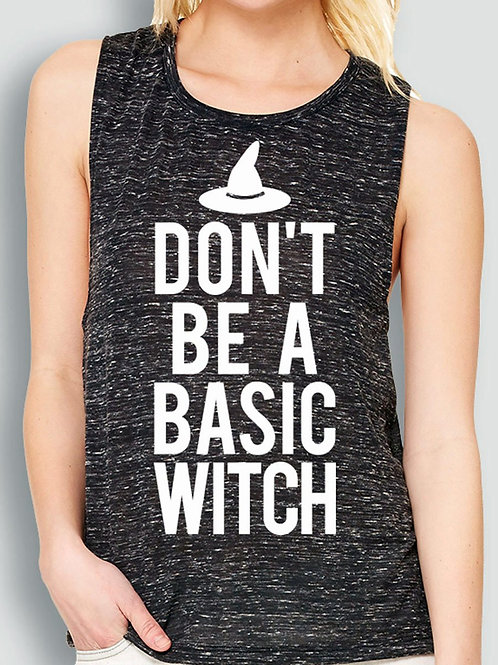 Don't Be a Basic Witch Marble Muscle Tank Top