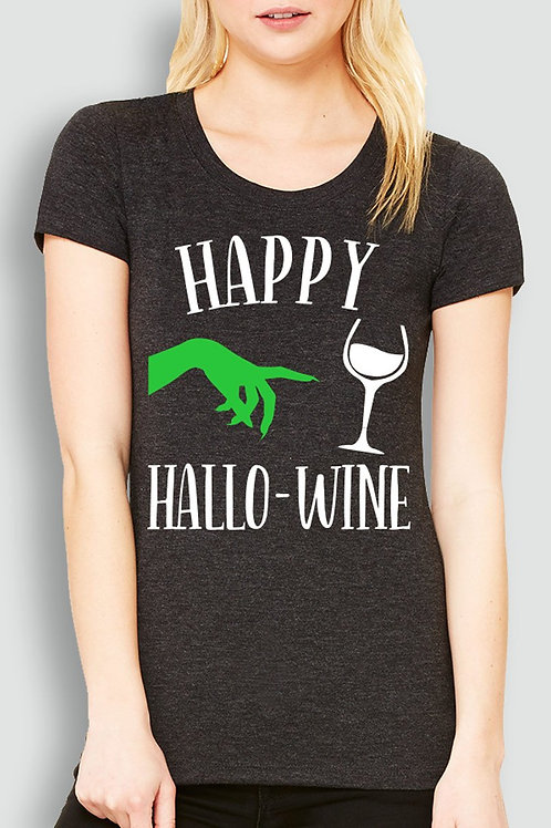 Happy HalloWine Witch Short Sleeve Tee - Pick
