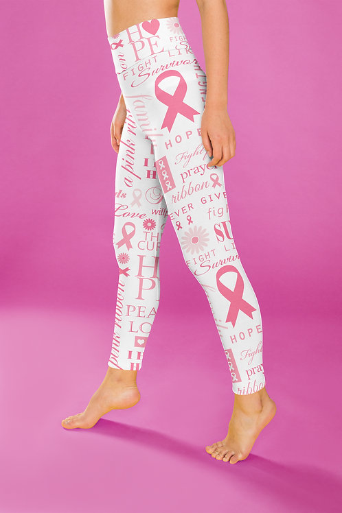 Cancer Awareness leggings, Capris and Shorts