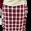 Thumbnail: Avental de Cintura Xadrez Vinho com Aba