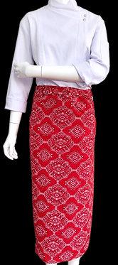 Avental de Cintura Estampado Vermelho