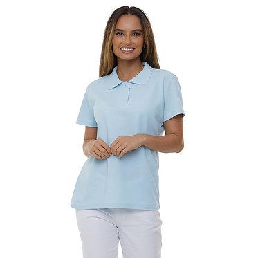 Camiseta Pólo Feminina Azul