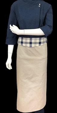 Avental de Cintura com Aba Xadrez Azul