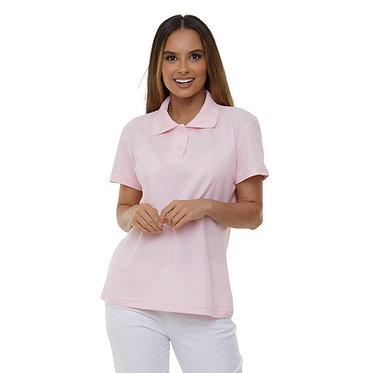 Camiseta Pólo Feminina Rosa