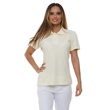 Polo Feminina Amarela
