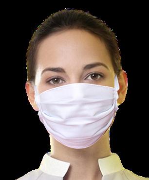 Máscara Unissex de tecido de amarrar - 5 (dez) Unidades