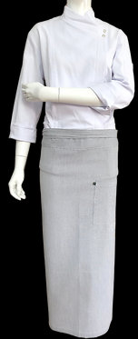 Avental de Cintura Estampado Cinza