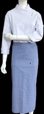 Avental de Cintura Estampado Azul