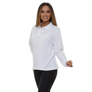 Camiseta Pólo Feminina Manga Longa