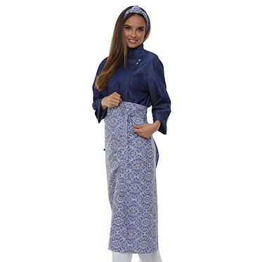 Avental de Estampado Arabesco Azul