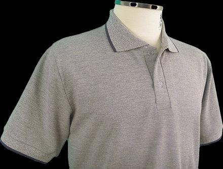 Camiseta Pólo Masculina Cinza