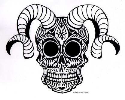 Gemmed Skull