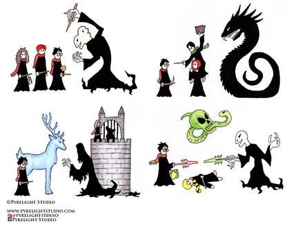 Harry Potter 1 through 4